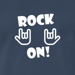Rock On (White) - Men's Premium T-Shirt