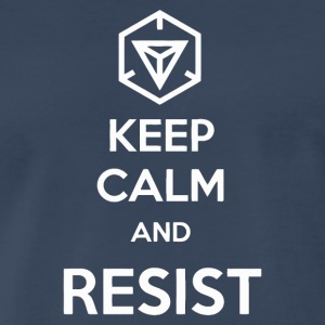 Keep Calm and resist - Men's Premium T-Shirt
