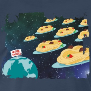 spaghetti meatballs outer space alien invaders - Men's Premium T-Shirt