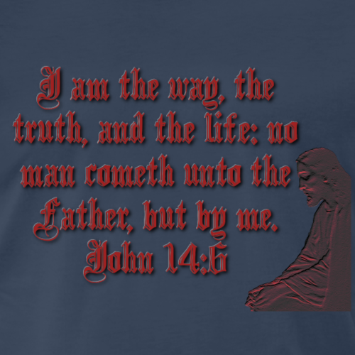 Jesus, John 14:6 - Men's Premium T-Shirt