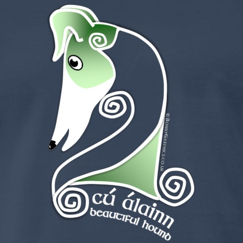 Celtic hound head green - Men's Premium T-Shirt