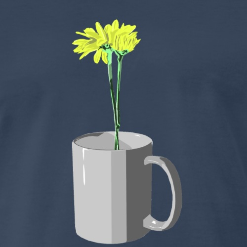 Flowers grow where needed - Men's Premium T-Shirt