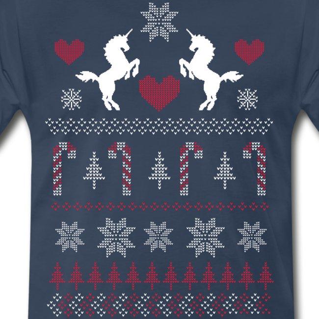 Mens Christmas Sweater.Ugly Christmas Sweater Unicorn Shirt Men S Premium T Shirt