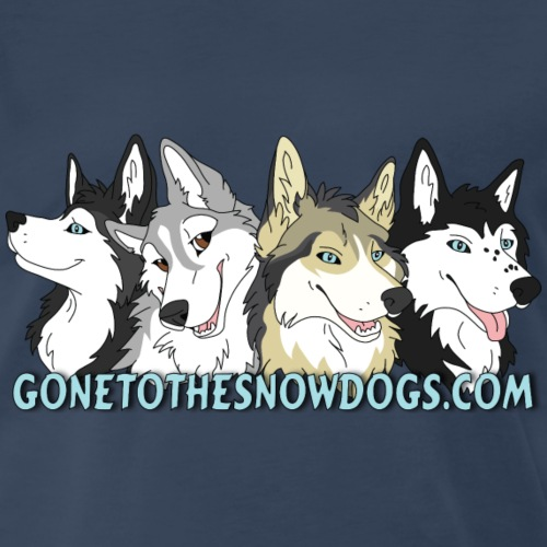 Siberian Husky Snow Dogs - Men's Premium T-Shirt