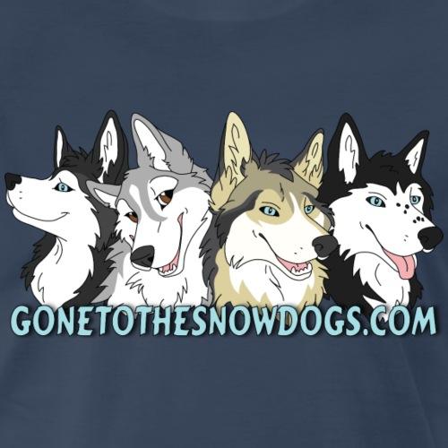 Siberian Husky Snow Dogs - Men's Premium T-Shirt