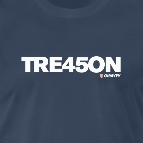 TREA45ON SOLO WHITE LOGO - Men's Premium T-Shirt
