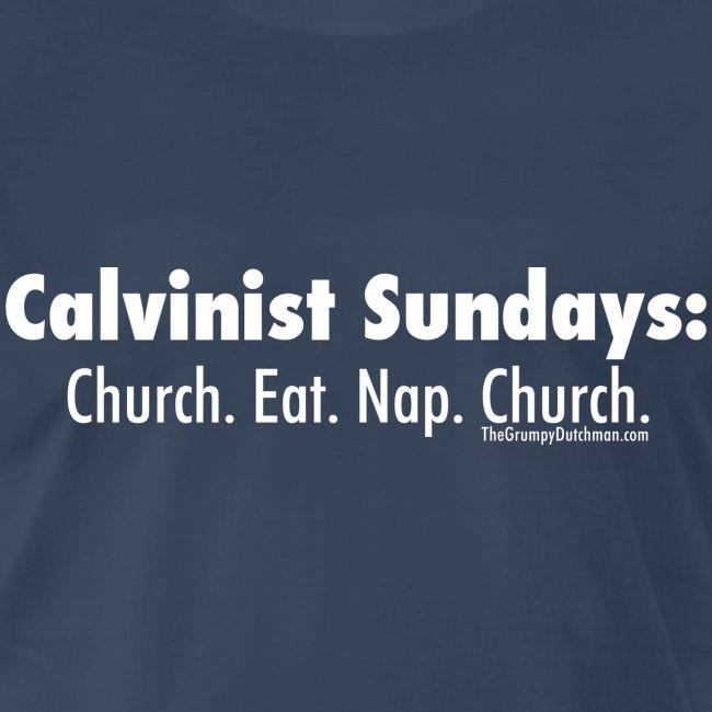 33 Calvinist Sundays white lettering