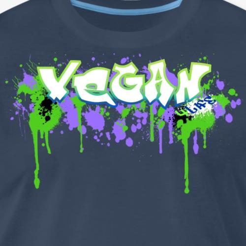 Vegan 4 Life Graffiti Splotch - Men's Premium T-Shirt