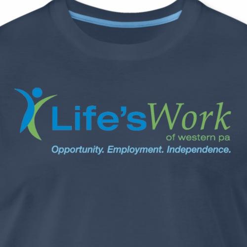 LW Standard Logo - Navy - Men's Premium T-Shirt