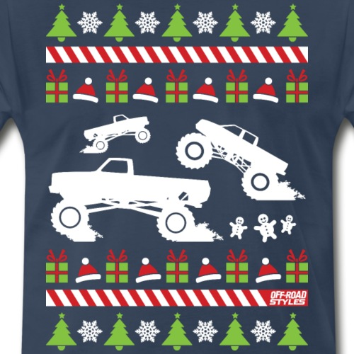 Mud Truck Ugly Christmas - Men's Premium T-Shirt
