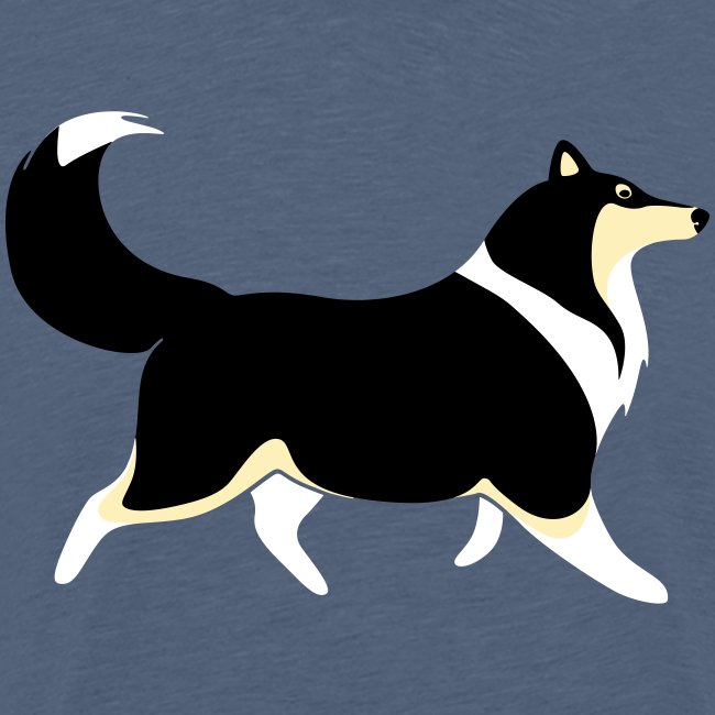 Merle Collie silhouette