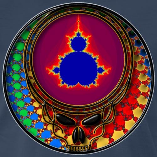 Super Cool Fractals in Grateful Dead Style Skull - Men's Premium T-Shirt