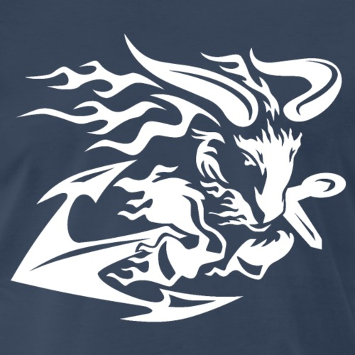 Goat with Anchor - Men's Premium T-Shirt