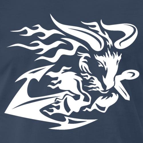 Goat with Anchor - Men's Premium T-Shirt