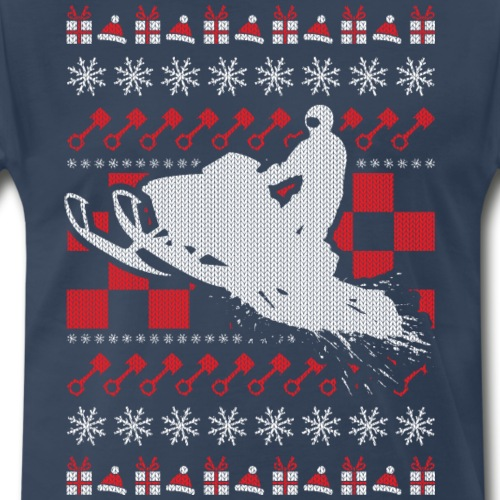 Snowmobile Ugly Christmas - Men's Premium T-Shirt
