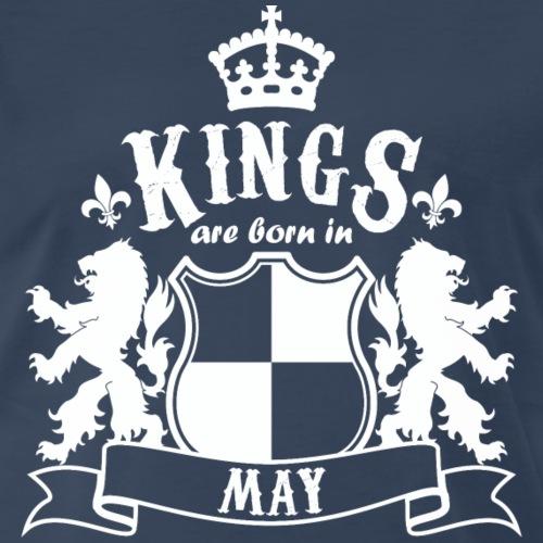 Kings are born in May - Men's Premium T-Shirt