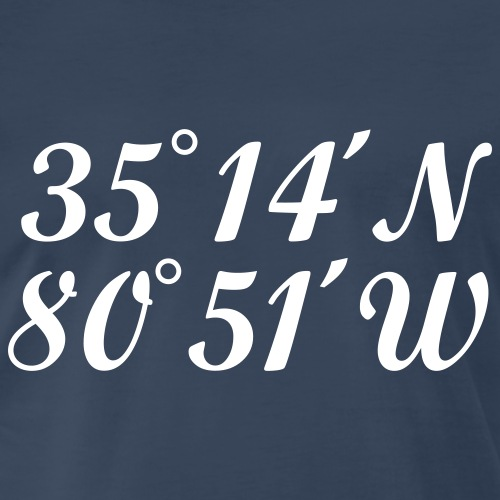 Charlotte Coordinates Latitude and Longitude - Men's Premium T-Shirt