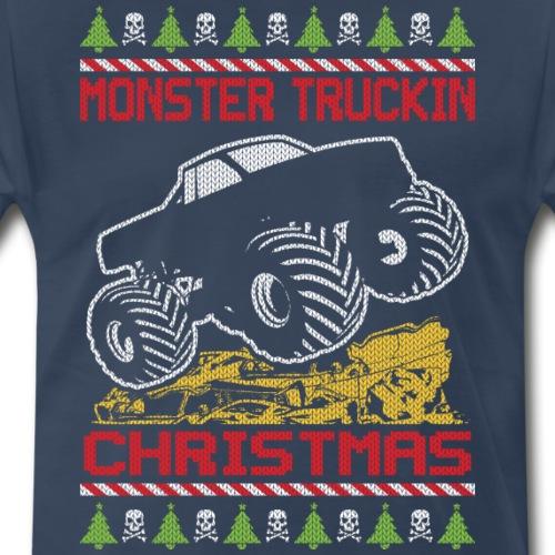 Christmas Monster Truckin - Men's Premium T-Shirt