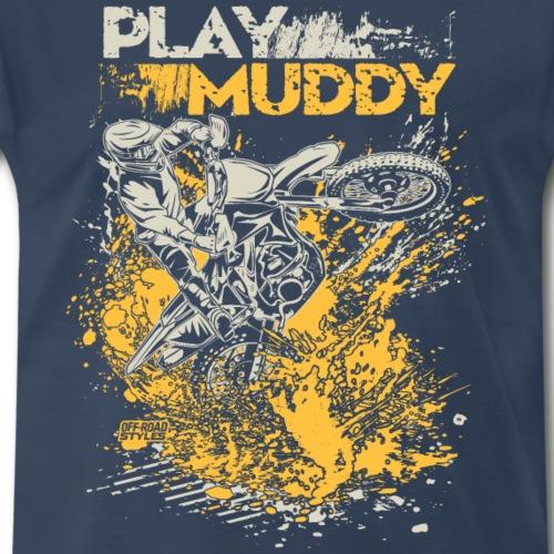 Motorbike Fun Mud - Men's Premium T-Shirt