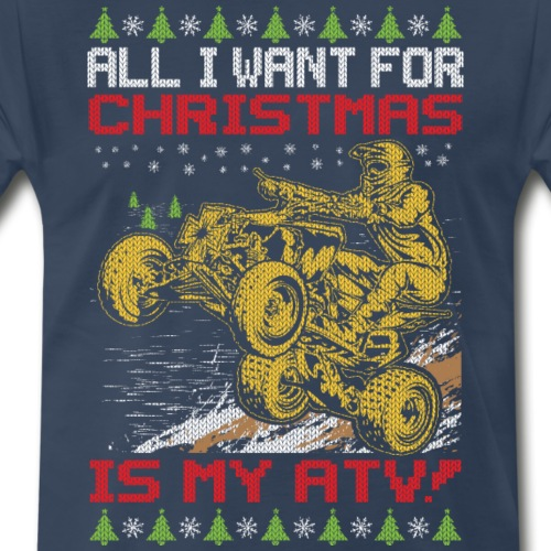 ATV Quad Christmas - Men's Premium T-Shirt