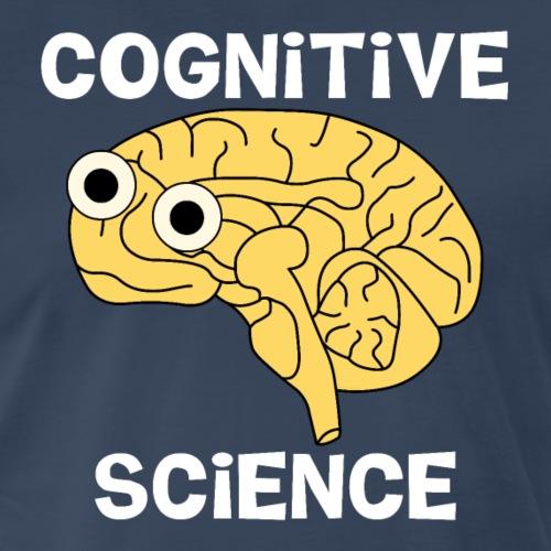 Cognitive Science Brain White Text - Men's Premium T-Shirt