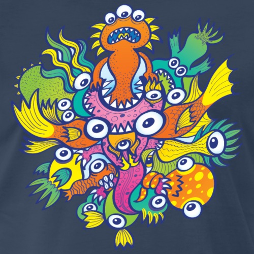 Don't let this evil monster gobble our friend - Men's Premium T-Shirt