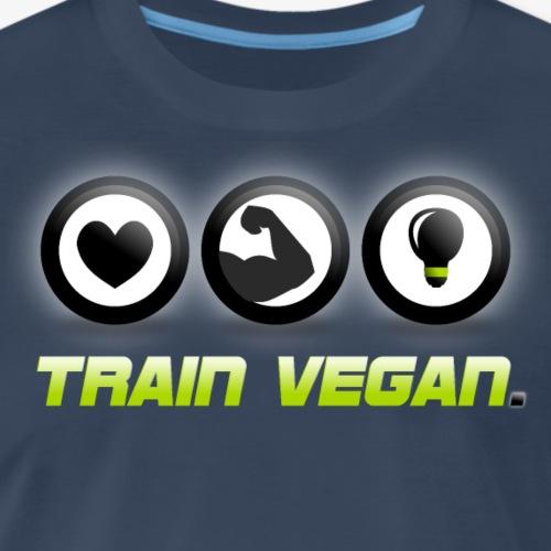 Heart | Biceps | Brains – Train Vegan. - Men's Premium T-Shirt
