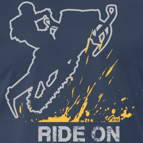 Snowmobile Ride On - Men's Premium T-Shirt