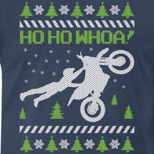 Motorcycle Ugly Christmas - Men's Premium T-Shirt