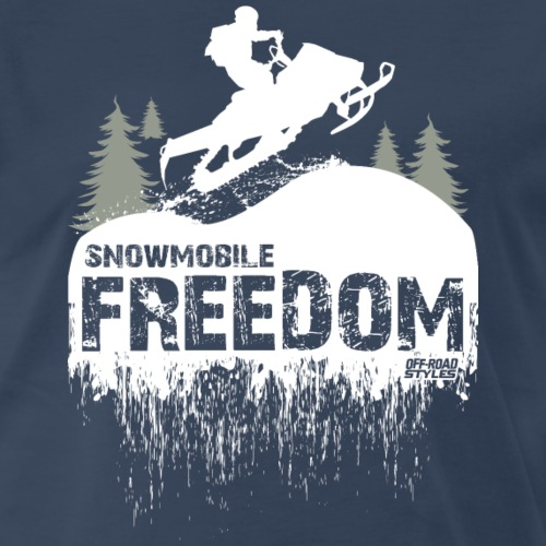 Snowmobile Freedom - Men's Premium T-Shirt