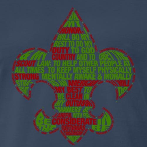 Scout Law Fleur De Lis T-Shirt - Men's Premium T-Shirt