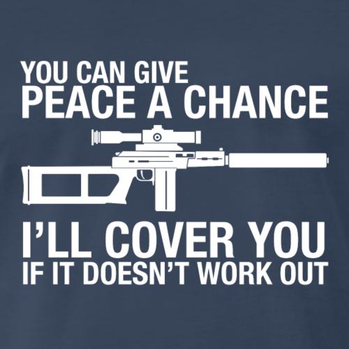I ll Cover You With My Gun - Men's Premium T-Shirt