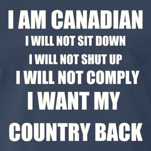 I am Canadian white text - Men's Premium T-Shirt