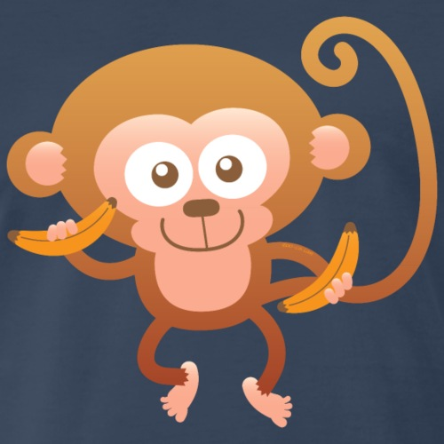 Smiling Happy Monkey - Men's Premium T-Shirt