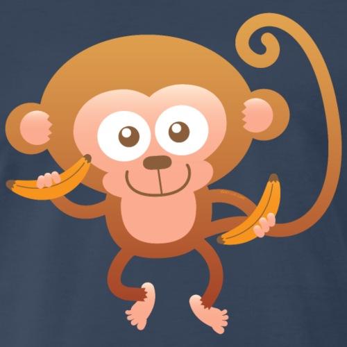Smiling Happy Monkey - Men's Premium T-Shirt