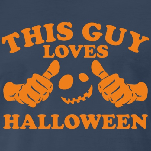 This Guy Loves Halloween - Men's Premium T-Shirt