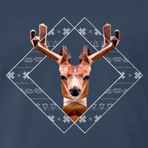 Modern Christmas Reindeer - Men's Premium T-Shirt