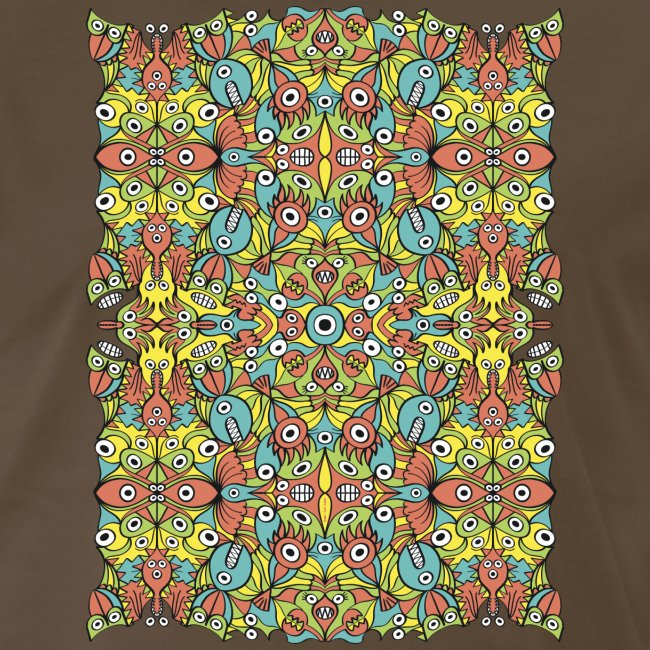 Odd creatures multiplying in a symmetrical pattern