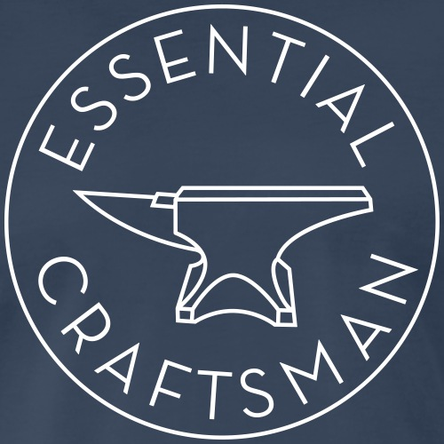 Essential Craftsman Logo - White - Men's Premium T-Shirt