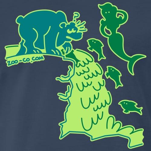 Light blue Surprised Bear Women's T-Shirts - Men's Premium T-Shirt