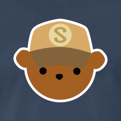 ABC Bear Letter S - Men's Premium T-Shirt