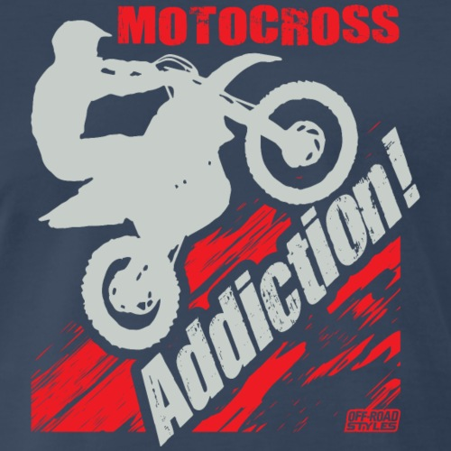 Motocross Addiction - Men's Premium T-Shirt