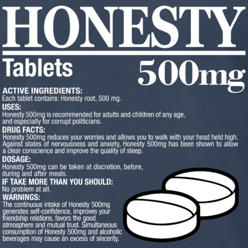 Honesty 500 mg v2 (dark) - Men's Premium T-Shirt