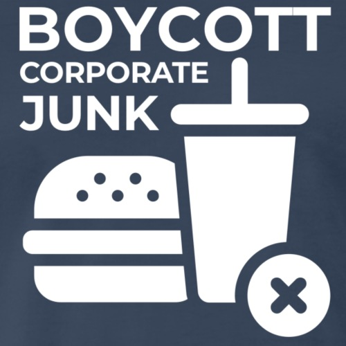 Boycott corporate junk - Men's Premium T-Shirt