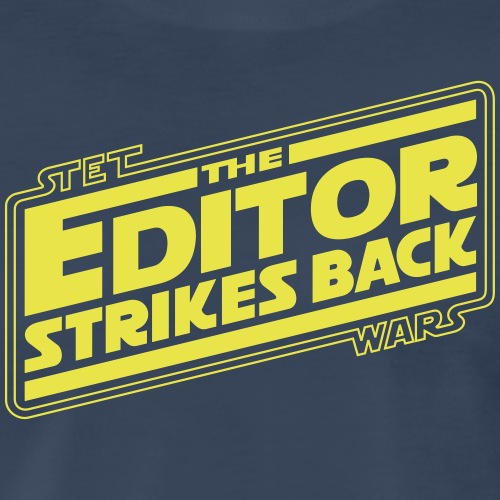 The Editor Strikes Back - Men's Premium T-Shirt