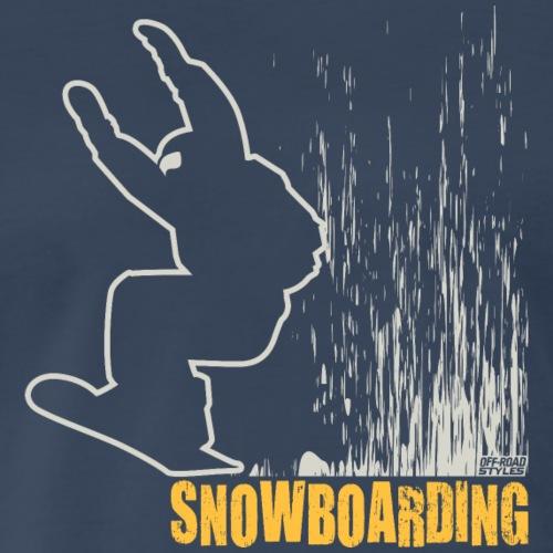 Snowboarder Snowboarding - Men's Premium T-Shirt