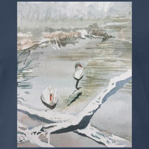 White swans - Men's Premium T-Shirt