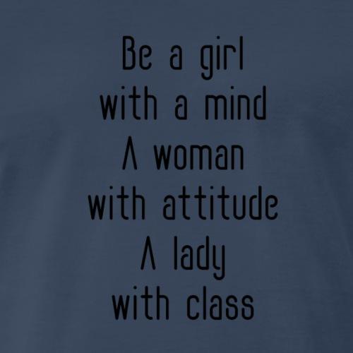 A woman with attitude - Men's Premium T-Shirt