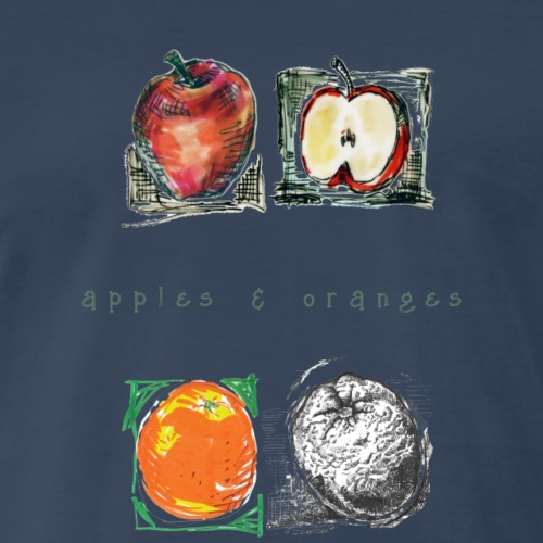 Apples and Oranges. - Men's Premium T-Shirt