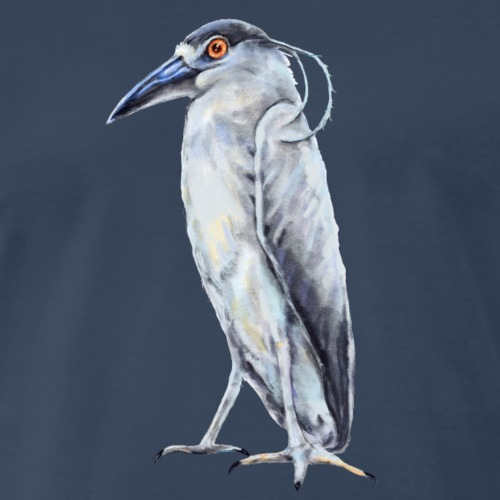 Black Crowned Night Heron - Men's Premium T-Shirt